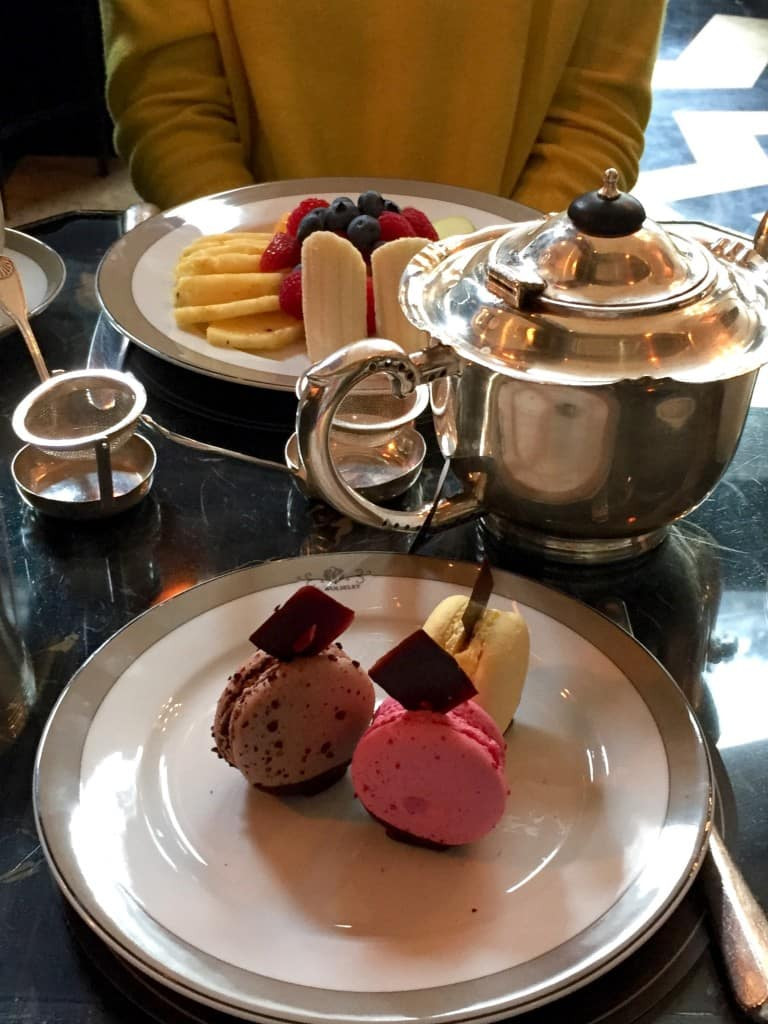 Always say yes to tea and macarons - The Wolseley