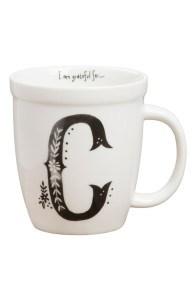 'I am Grateful For' Initial Mug