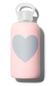 bkr 'Heart' Glass Water Bottle