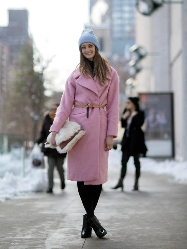 Noelle Sciacca in a coat from Asos