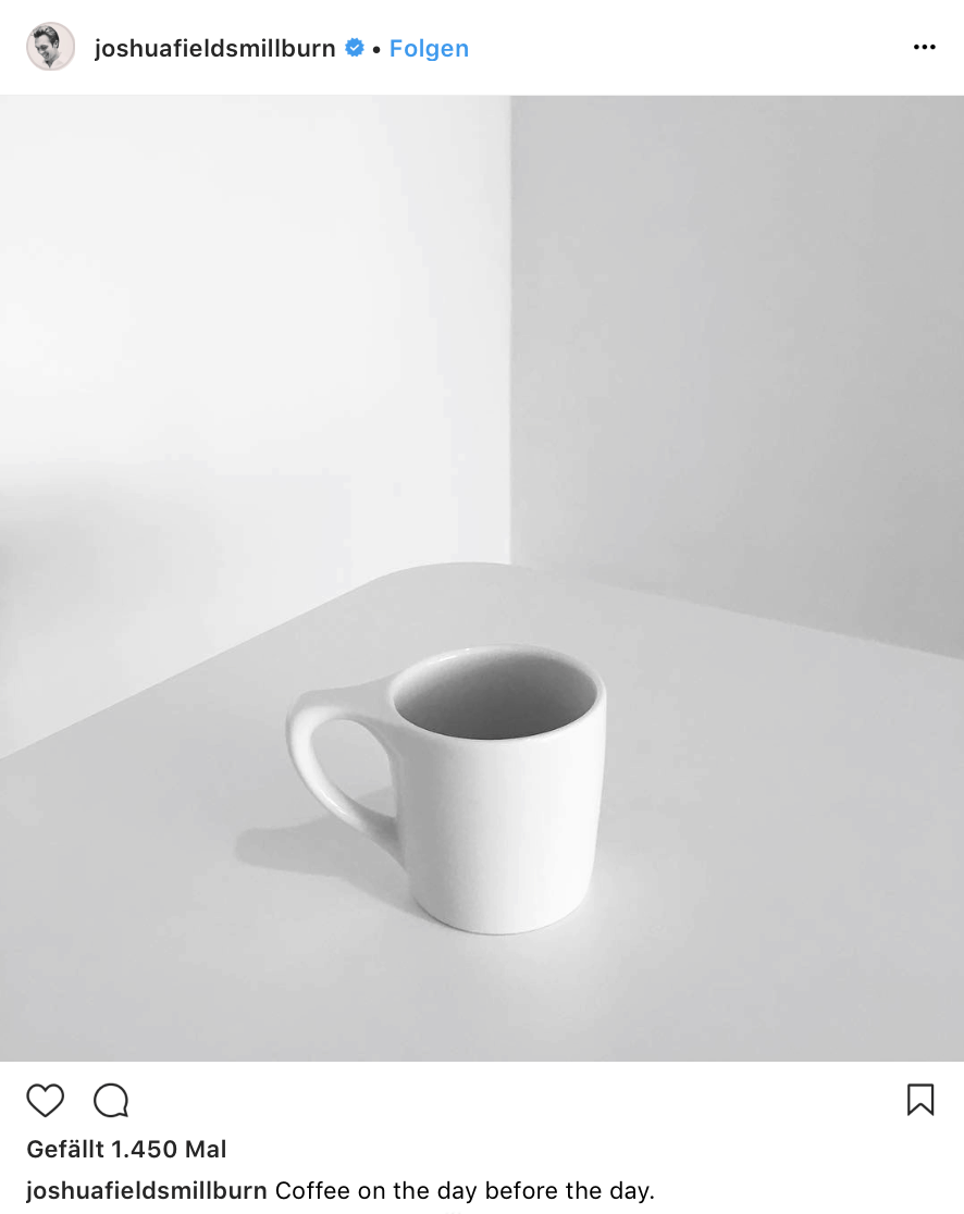 Minimalism, Black and White, Black, White, Cup, Joshua Fields Millburn, The Minimalists, Simplicity, Aesthetics, Minimal, Simple, Coffee, Clean, Classy