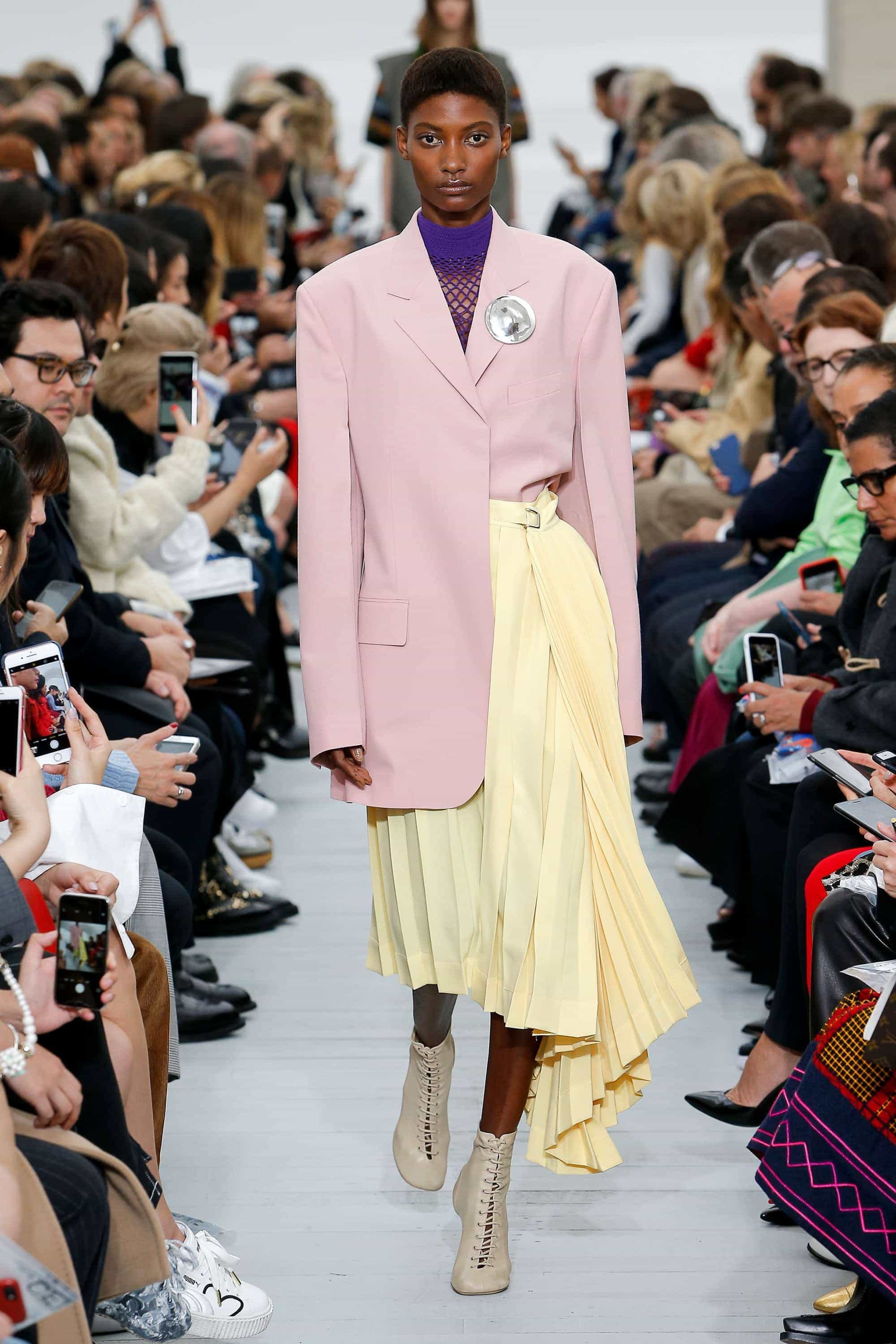 Trendy Tuesday, Céline, Phoebe Philo, Asymmetrical, Style, Fashion, Fashion Inspiration, Spring Fashion, SS18, Spring Summer 2018, Pastel Colors, Purple, Pink, Shop the Look