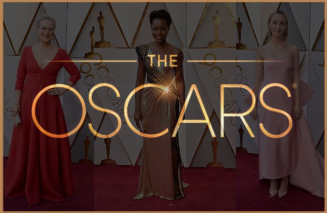 Oscars_2018, Oscars, Acadamy Award, Hollywood, Film, Movie, Actresses, Oscar Pokal, LA, Gowns